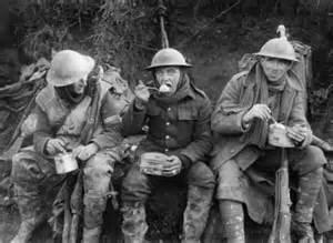 troops eating